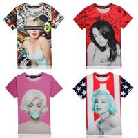 hip hop t-shirt - Marilyn Monroe T shirt Men Short Sleeve Aaliyah Unisex Tshirt Hip Hop D Shirts Brand Casual shirt Swag Clothes Stars Banner Tees T shirts