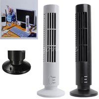 Wholesale 100 Brand New High Quality Portable USB Mini Bladeless No Leaf Air Conditioner Cooling Cool Desk Tower Fan