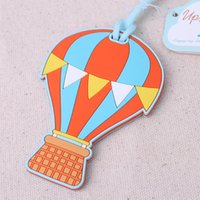 Wholesale quot Up Up Away quot Up and Away Hot Air Balloon Luggage Tag wedding Favors promotion Giveaway gifts Bridal Shower Baggage Tags