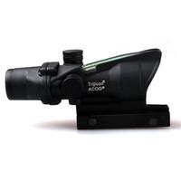 Wholesale Tactical Trijicon ACOG X32 Multiple Scope Sight Real Fiber Optics Green Illuminated Crosshair Hunting Riflescopes