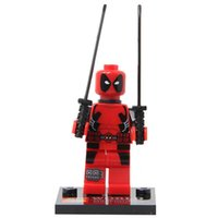 Wholesale 10pcs set Deadpool Minifigures Building Bricks Blocks Sets Education Toys Compatible with Legominifigure No Original Box
