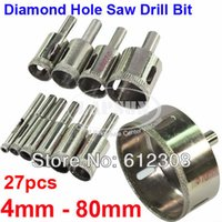 granite tiles - 27pc mm mm mm mm mm Assorted Diamond Coated Hole Saw Drill Bit Set Cutter Kit Tool For Glass Marble Tile Granite
