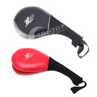Wholesale Single Taekwondo Tae Kwon Do Kick Pad Practice Target Kickboxing Training Pads Red Black