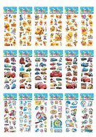 Wholesale 50 sheets Mixed Hot Kids Cute Cartoon d Puffy Stickers Sheet Kawaii Foam Sticker for Children