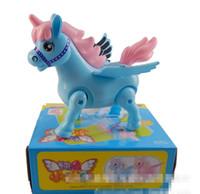 Wholesale 1pc Brand new Fashion Cute Children s Cartoon Electric Toy Interactive Musical Flashing Unicorn Horse Display Box Drop Shipping