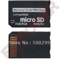 Gros-Micro SD TF Memory Stick MS Pro Duo adaptateur de carte En Livraison gratuite; 500pcs / lot