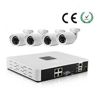 Wholesale POE NVR Kits ch POE NVR POE P IP camera combo NVR kit p2p smartphone surveillance