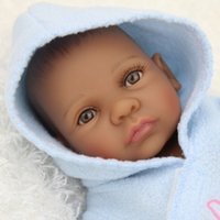 african dolls - African African American Doll Boy Full Body Silicone Newborn Baby Black Baby Alive Toy Hobbies For Kids inch