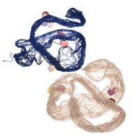 beach party decor - Decorative Nautical Fishing Net Seaside Wall Beach Party Sea Shell Decor K5BO