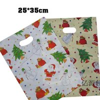 Cheap Christmas Plastic Bag 25cmx35cm New Year ThankGive wedding Birthday Party Gift Pouches