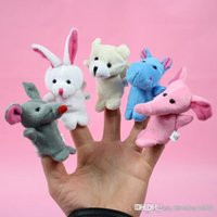 Wholesale Holiday gift store Retail Baby Plush Toy Finger Puppets Talking Props animal group set