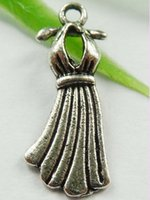 antique formal dresses - Fashion Antique Silver Alloy Formal Dress Charms Pendants DIY Making Jewelry mm E0500