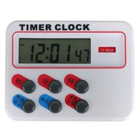 Wholesale Brand New Timer Sport Timer Clock Hours With Memory Funcation Kitchen Cooking Digital LCD Sport Countdown Calculator