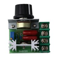Wholesale 1Pc W V Dimming Dimmers Thermostat SCR Speed Controller Voltage Regulator Newest