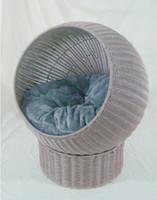 Wholesale Plastic woven rattan cat cave cat furniture cat toy cat board