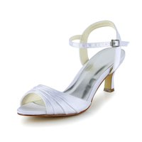 Wholesale classic fashion shoes wedding shoes satin material sandals shoes wedding party dance GM variety of colors clz0018