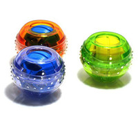Wholesale E0694 Hot sale Gyroscope LED Wrist Strengthener Ball arm Grip Ball Power Muscle massage ball price