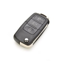 Wholesale For VW Golf Passat Polo Buttons Flip Remote Key Shell Fob Case Cover Hot Auto Car Shell Pc