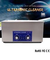 al por mayor limpia industrial-Cenkon 30L Industrial Industrial Ultrasonic Cleaner Máquina de limpieza ultrasónica para limpiar la superficie, Gap para joyería, reloj, dentadura, gafas.