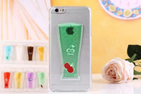 apple juice drinks - Flow Liquid Beer Coke Fruit Juice Cherry Watermelon Drinks Style Cup Clear Transparent Hard Cover Case for iPhone s plus iphone6