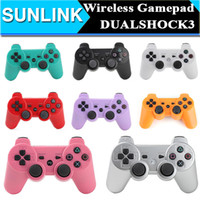 Wholesale Wireless Bluetooth Game Controller Gamepad Joysticks for PlayStation PS3 PS Android video games Colors Availiable Hot Sale