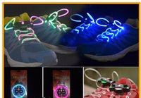 Wholesale LED Flashing Shoe Lace Fiber Optic Shoelace Luminous Shoe Laces Light Up Flash Glowing Shoes lace Colorful pairs