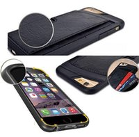 Wholesale Luxury Designer Iphone Wallet Case - New Brand Designer Cases Ultrathin Hybird Rubber Leather Cover For Apple Iphone 6 4.7 Inch Luxury Wallet And Card Holder Shell