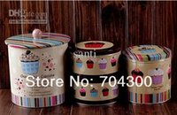 shipping container tin - Cookie Jar Candy Can Home tin set cake storage food box container Jumbo Choco chip Design