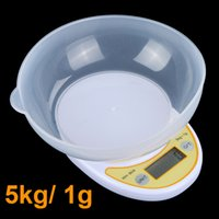 bathroom weighing scale - 5kg g Portable Digital Electronic Kitchen Scale Food Parcel Weighing Balance with Bowl