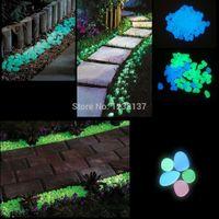 parterre - L109100pcs Fish Tank Garden Parterre Decor Glow in the Dark Fluorescent Pebble Stone