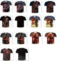 Wholesale New D T shirt deadpool Stereo design printing Male round collar summer t shirt with short sleeves
