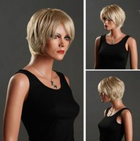 blonde wigs short hair - 2015 Hot Selling Short Blonde Hair Wigs Natural Goldedn Hair Accessory Sexy Hair Product