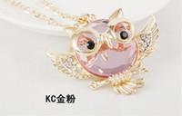 Collier pendentif en cristal New Owl Necklace Top qualité strass Colliers Classique long animal Bijoux pour les femmes cadeau