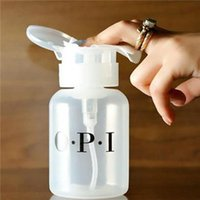 Wholesale Portable ml Nail Art Polish Cleaner Remover Travel Bottle Portable Dispenser Pump Tool