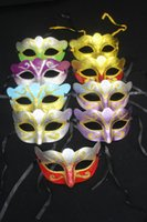 beauty party supplies - R H Hot Sale Carnival Masks Women Masquerade Mask Festive Party Supplies Handmade Half face PVC Multicolor Pastels Beauty Mask