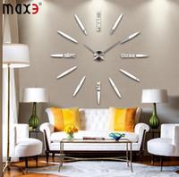 Wholesale 2015 new home decor living room quartz modern wall clock fashion diy art single face large decorative clocks