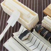 Wholesale 10 Multifunctional Sushi Mould Suit New Japanese Sushi Maker Novetly Cute DIY Sushi Maker For Kids ZT