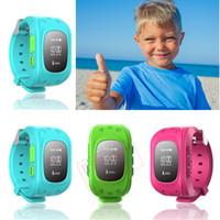 gps kids tracker watch - 2015 Mini GPS Tracker Watch Phone for Kids SOS Emergency Anti Lost Smart Mobile Phone App Bracelet Wristband