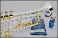 Wholesale Bach LT180S Trumpet gold key gold silveriness small silver plated surface silver brass instruments Bb trumpet