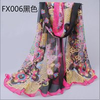 Wholesale new lady chiffon large long scarf women cheap price fashion scarf girl shawls european scarves pashminas170 cm lady wraps