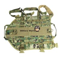 Wholesale Hunting Tactical Dog Training Molle Vest Airsoft Military Army Dog Clothes Load Bearing D Nylon Dog Vest Multicam Free Ship order lt no