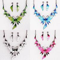 Wholesale Women Rhinestone Chokers Necklace Lady Jewelry Necklace Earring Set TL9289