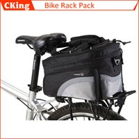 bicycle rack straps - Hottest Outdoor Sports Cycling Multifunctional Frame Rack Pack Bag Bike Bicycle Luggage bag Pannier with Soulder Strap