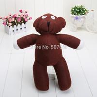 bean products - 1piece cm Mr Bean Teddy Bear Animal Stuffed Plush Toy Brown Figure Doll Children Retail