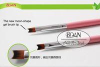 acrylic level - High Level Nylon Gel Polish Acrylic Brush Birch Wood Handle Pink Art Styling Tools Manicure French Nail Brushes