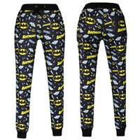 pants - Hot Sale Emoji Joggers Pants Batman Print Black White Hip Hop Pants Fashion Cute Cartoon D Print Emoji Joggers Pants H12