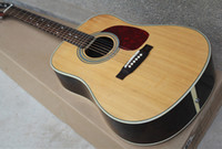 Wholesale Hot Selling Brand New quot Solid Spruce Top Dreadnought string Acoustic Electric Guitar Can be installed Fishman EQ