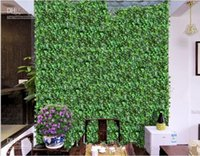 craft and party supplies - 2 Meters Long Home Wall Decor Artificial Silk Plastic Ivy Vine Hanging Plant Garlands Craft Supplies For Wedding Decorations Backdrops