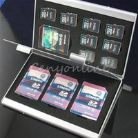 best memory card case - Best Price Slots High Quality Aluminum x TF x for SD Memory Card Storage Box Case Holder Protector