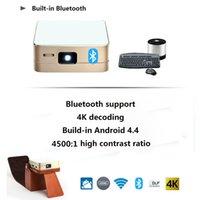 Wholesale Mini HD DLP Projector k LED Android Bluetooth Wifi mAh Mircast AirPlay HDMI USB lumens Portable Film Video